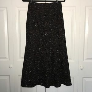 NWOT Free People Red White Blue Button Midi Skirt